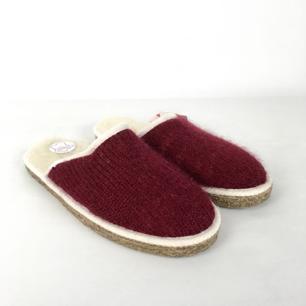 mules mohair rouge